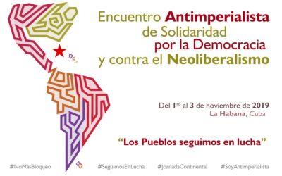 CSA en el Encuentro Antimperialista de Solidaridad por la Democracia y contra el Neoliberalismo en La Habana, Cuba