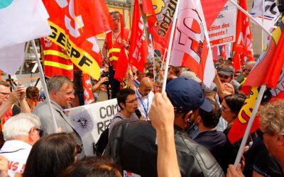 La CSA apoya la lucha de los trabajadores en Francia