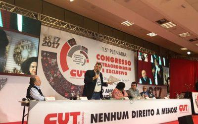 15ª Plenaria Congreso Extraordinario de la CUT Brasil lanza Jornada Continental por la Democracia y contra el Neoliberalismo