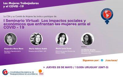 I Seminario Virtual: Los impactos sociales y económicos que enfrentan las mujeres ante el COVID-19