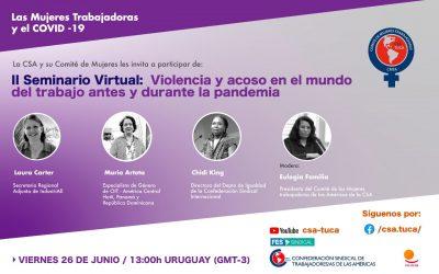 II Seminario Virtual: Violencia y acoso en el mundo del trabajo antes y durante la pandemia