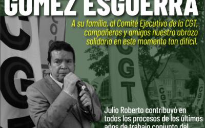 Fallece Julio Roberto Gómez, presidente de la CGT Colombia