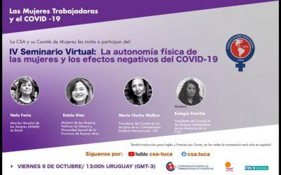 Seminario virtual: ¨ La autonomía física de las mujeres y los efectos negativos del COVID-19¨