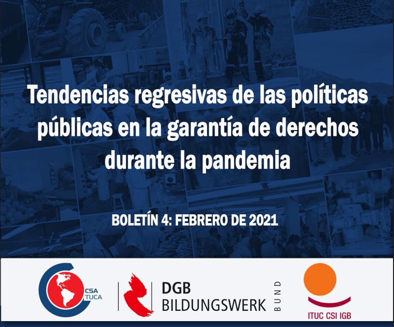 Observatorio Laboral de las Américas presenta Boletín 4: Tendencias regresivas de las políticas públicas en la garantía de derechos durante la pandemia