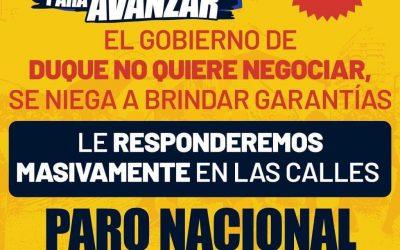 Colombia convoca movilizaciones por la vida y la paz